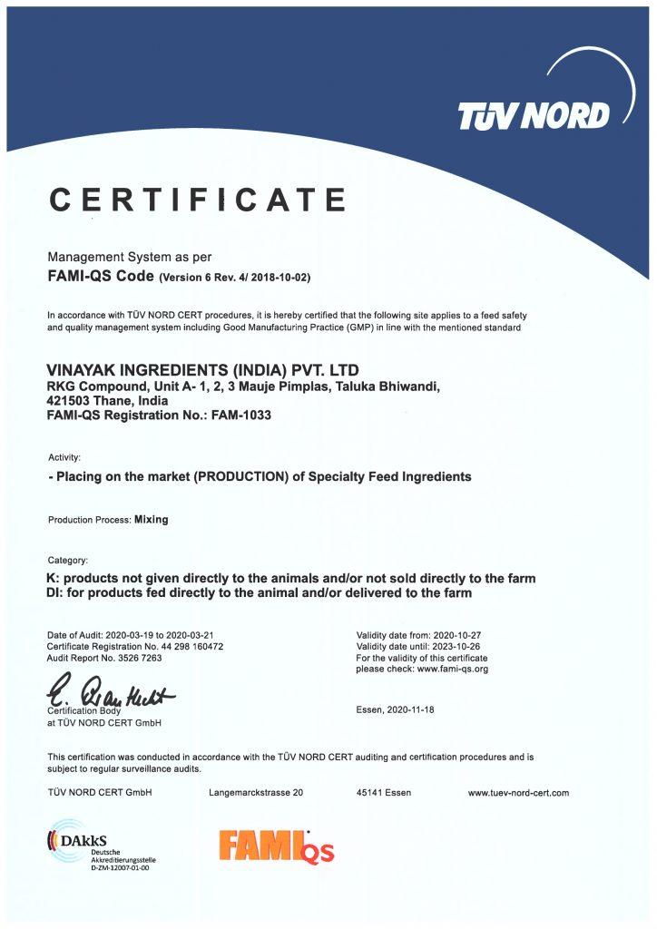 FAM QS Certificate 2020-2023